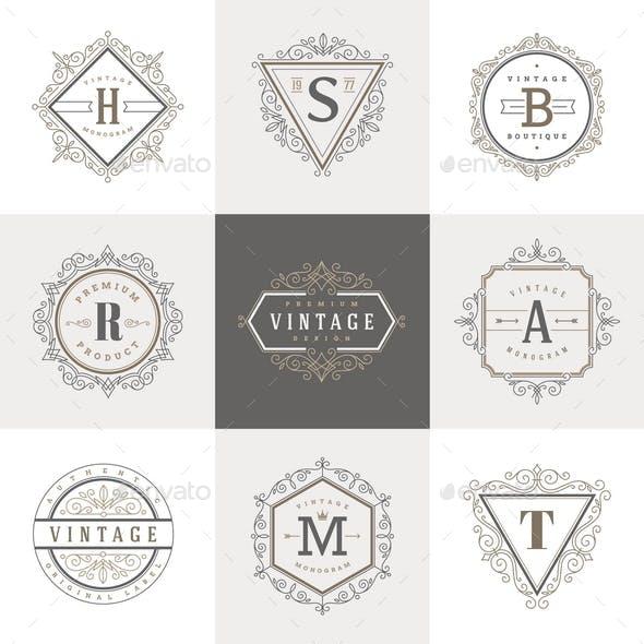 Monogram Label Template Set