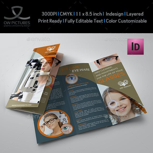 Optometrist & Optician Tri-Fold Brochure Vol.2