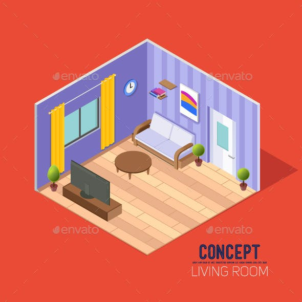 Concepts Living Room in Perspective
