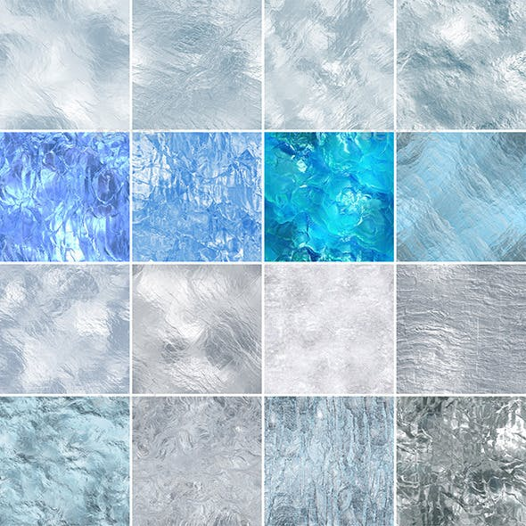 16 seamless ice textures