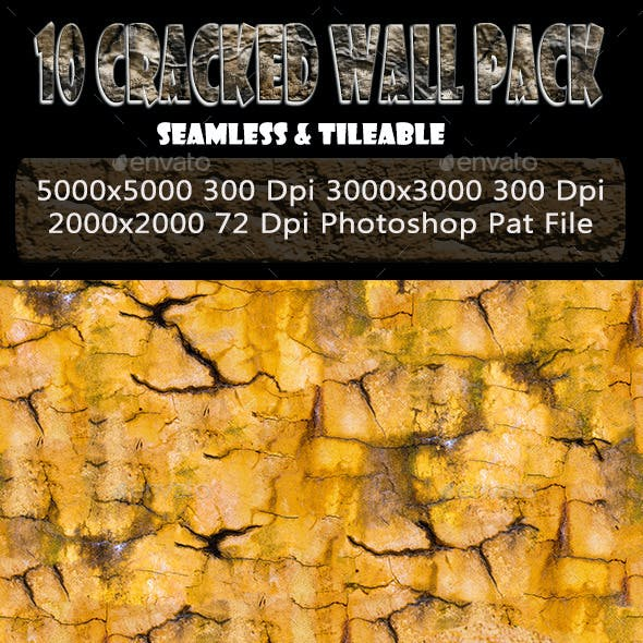 10 Cracked Wall Background Texture Pack