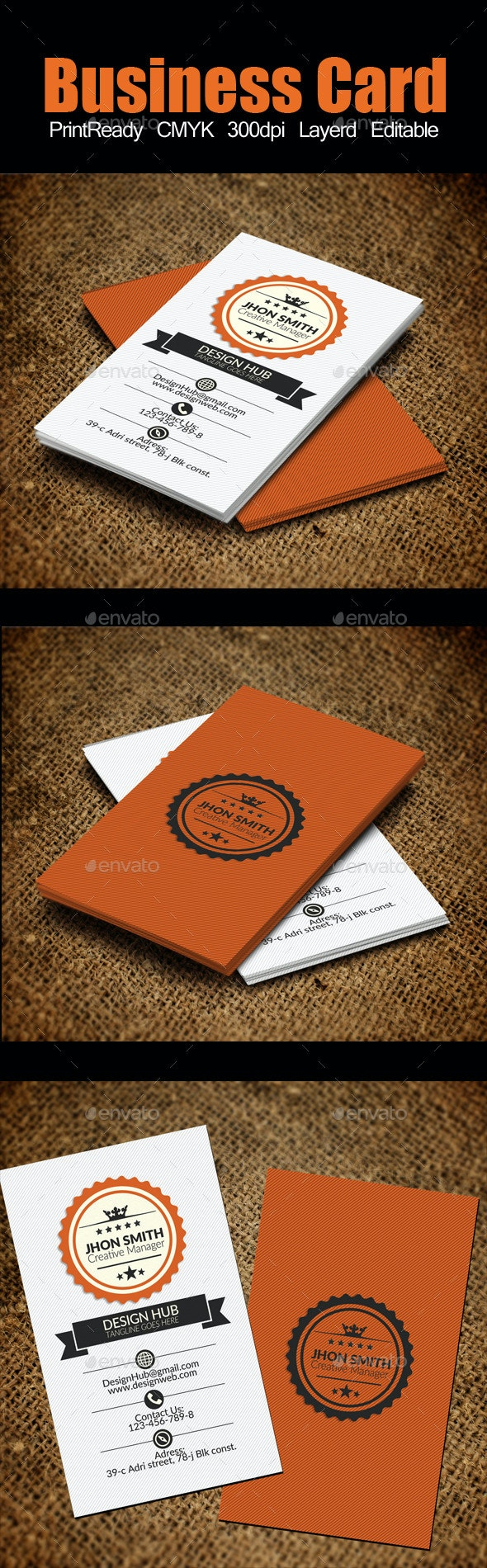 Retro Vintage Business Card - Corporate Business Cards