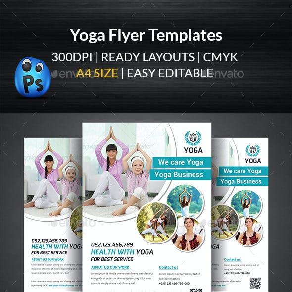 Yoga Flyer Print Templates