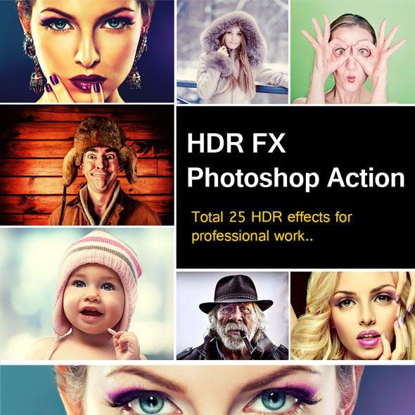 HDR FX Pro Photoshop Action