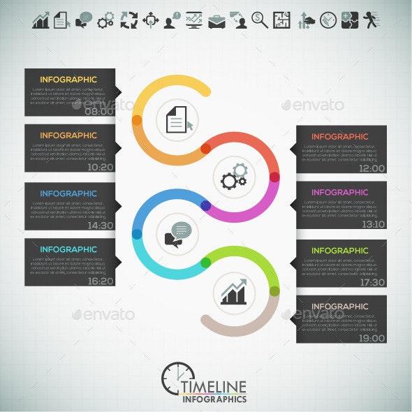 Modern Infographic Minimal Timeline - Infographics