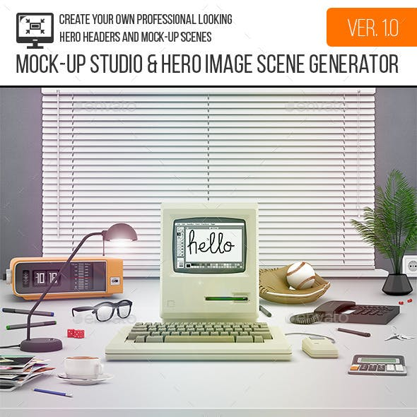 Mock-Up Studio & Hero Image Scene Generator