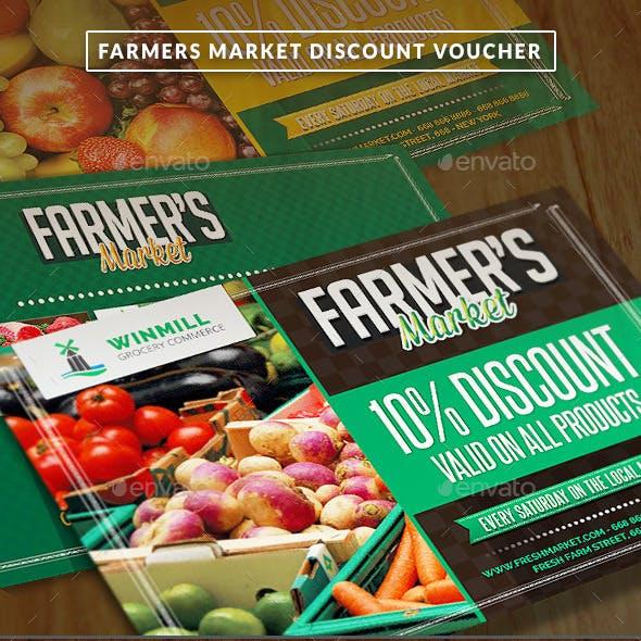Farmer's Market Commerce Discount Voucher