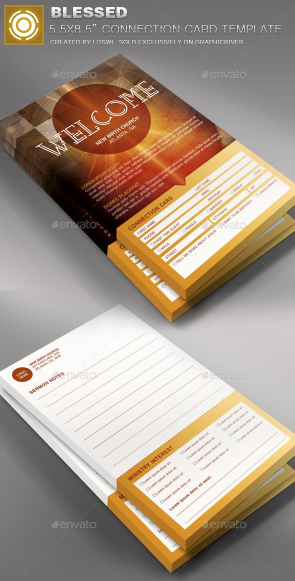 church welcome card template.html