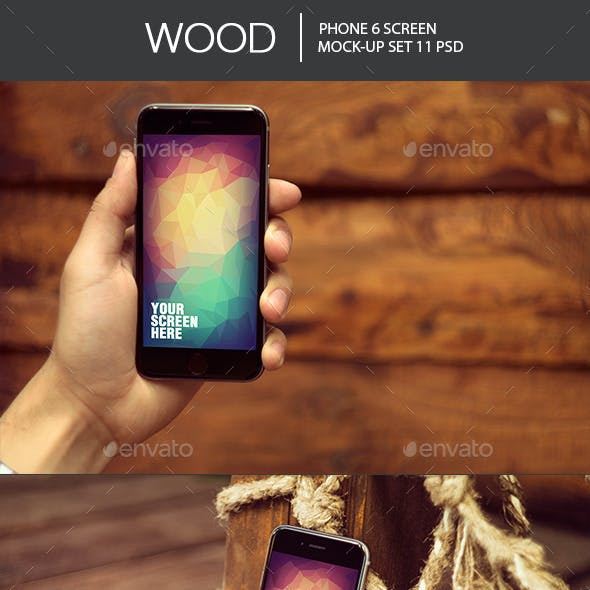Wood Phone 6 Mock-Up