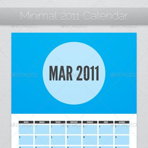 Minimal 2011 Calendar