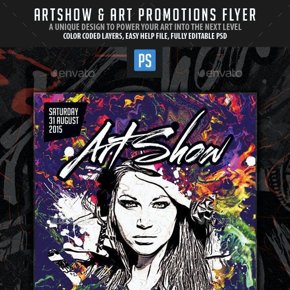 Art Show Promotional Flyer