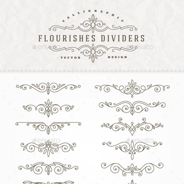 Set of Elegant Ornament Dividers