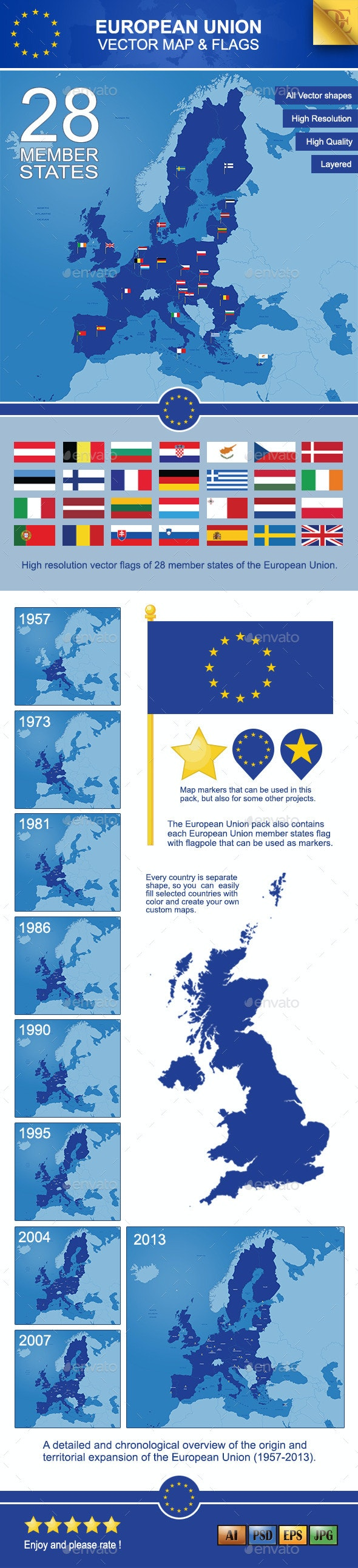 European Union Map - Miscellaneous Vectors