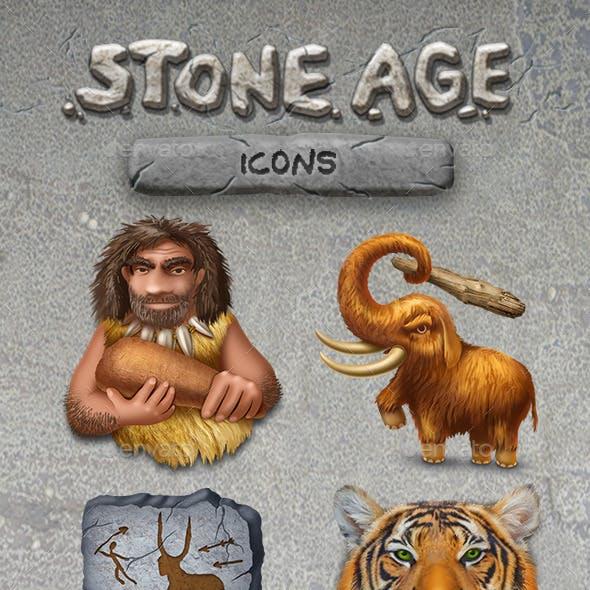 8 Stone Age Icons