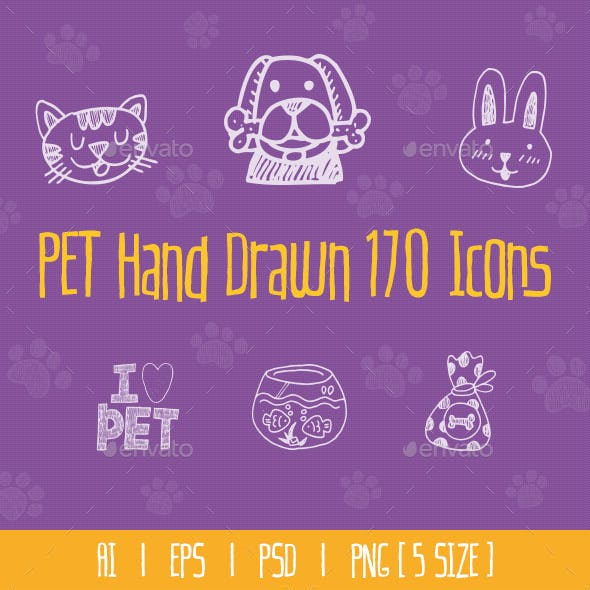 Pet Hand Drawn Icons