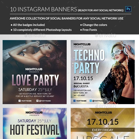 Instagram Banners Party