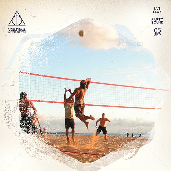 Beach Volleyball Festival Flyer