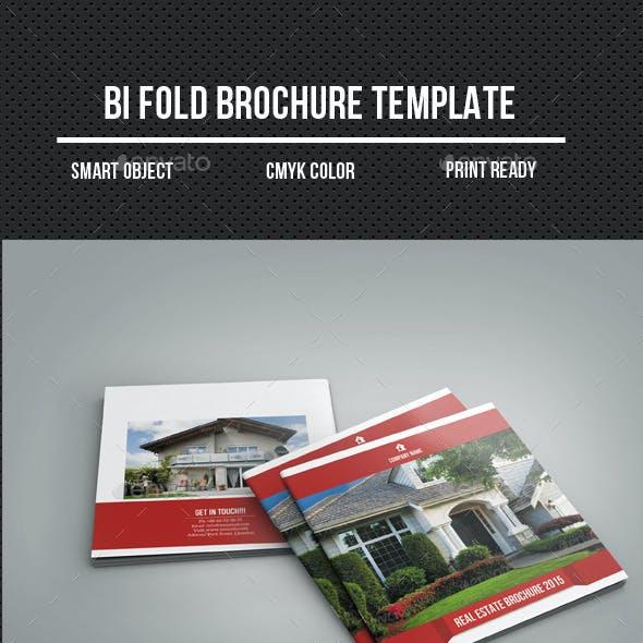 Square Bi-Fold Real Estate Brochure