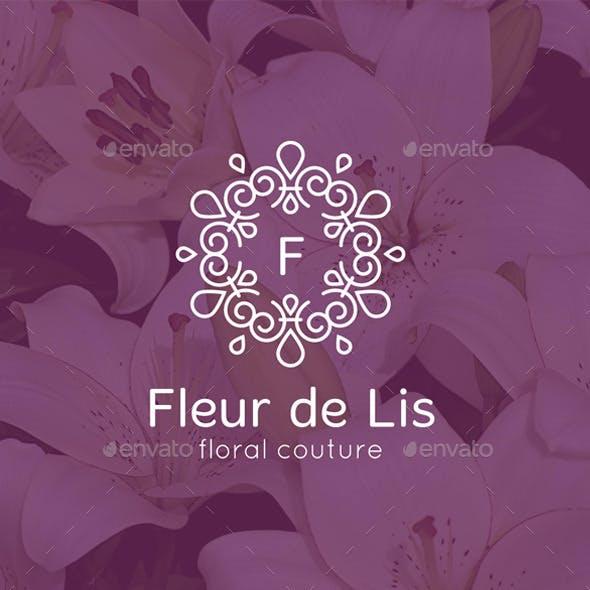 Fleur de Lis Monogram logo