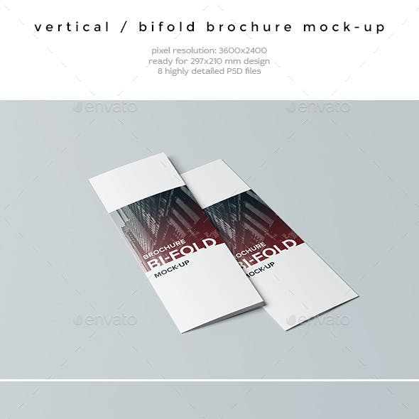 Vertical / Bifold Brochure Mock-Up