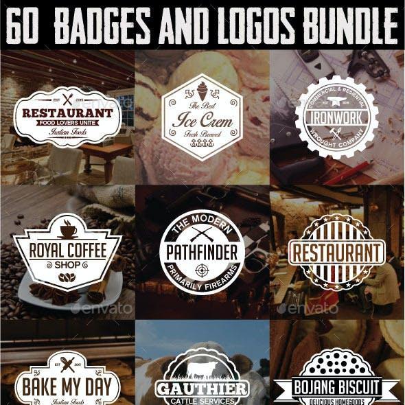 60 Badges and Logos Bundle