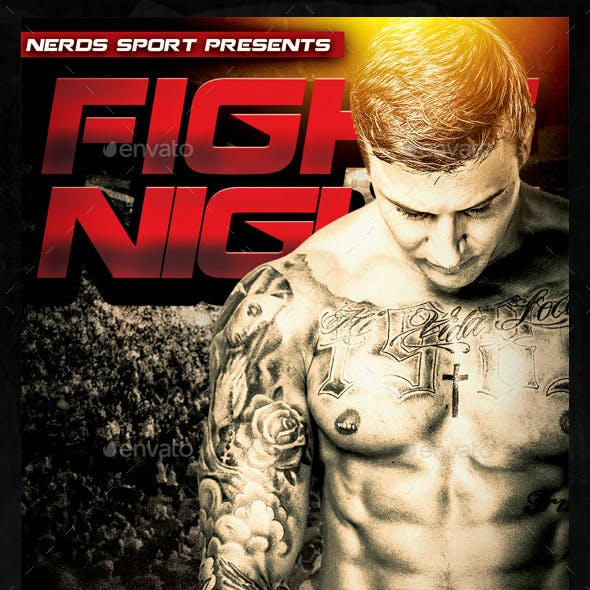 MMA Fight Night Sports Flyer