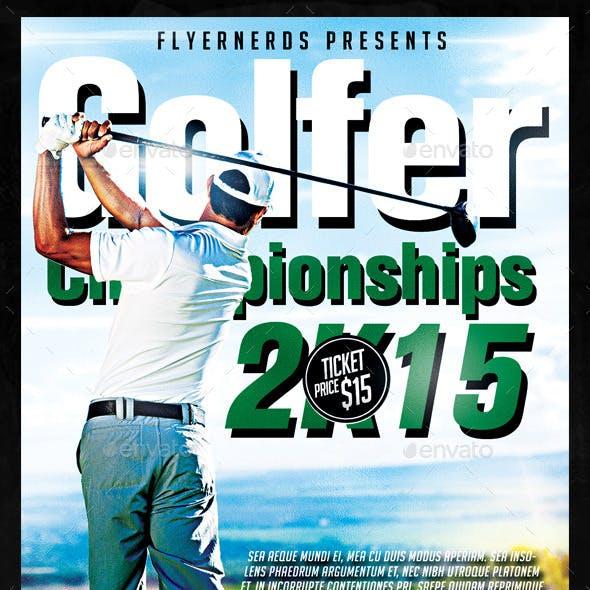 Golfer Championships Sports Flyer