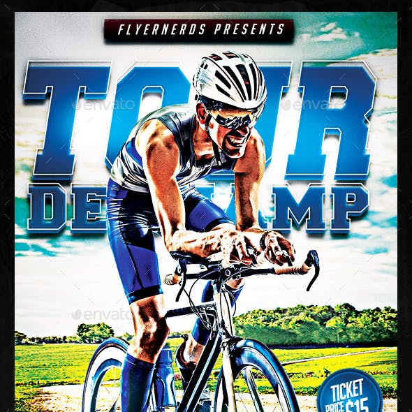 Tour De Champ Bicyle Championships Sports Flyer