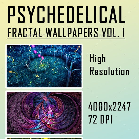 HD Psychedelic Fractal Wallpapers Vol. 1