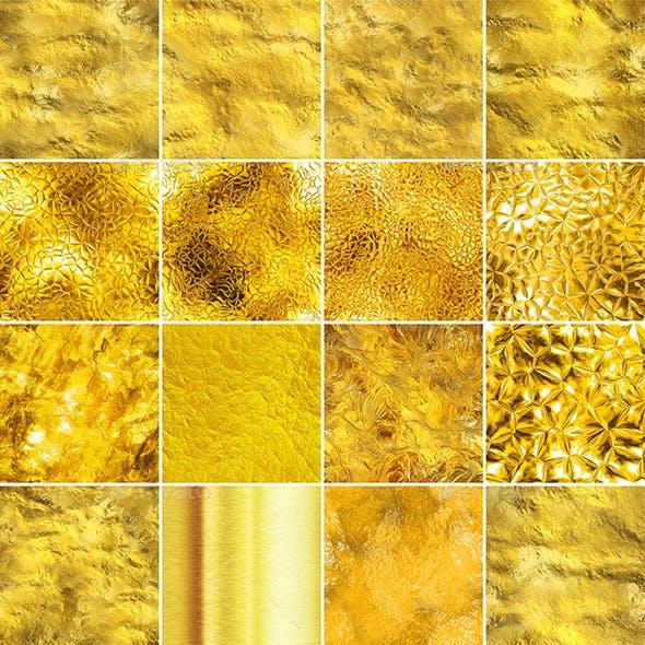 16 Gold Seamless Textures