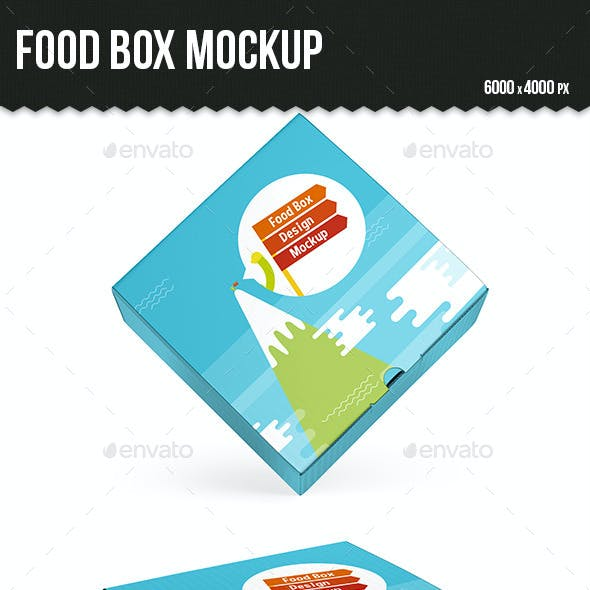 Food Box Mockup