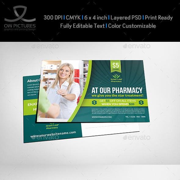Pharmacy Postcard Template Vol.2