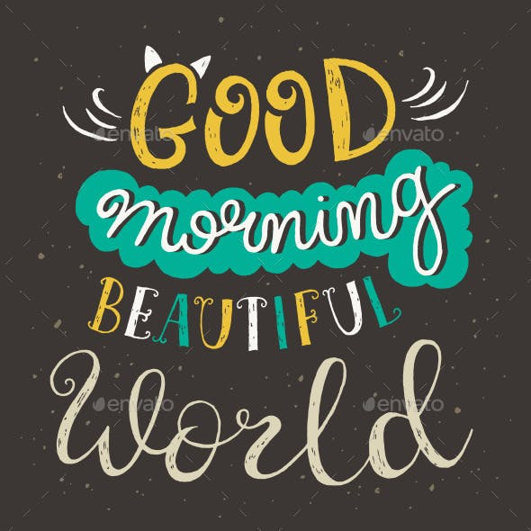 Hand Lettering Morning Posters