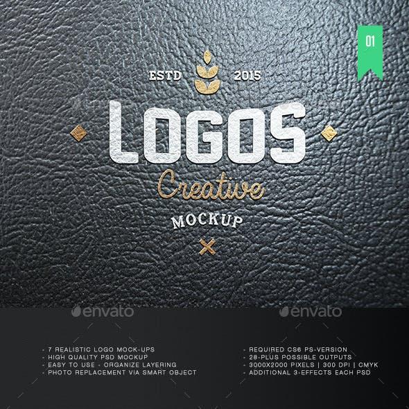 7 Realistic Logo Mockup V.1