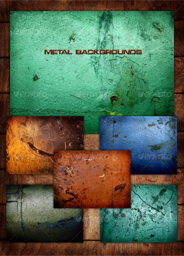Metal Grunge Background Pack - Backgrounds Graphics