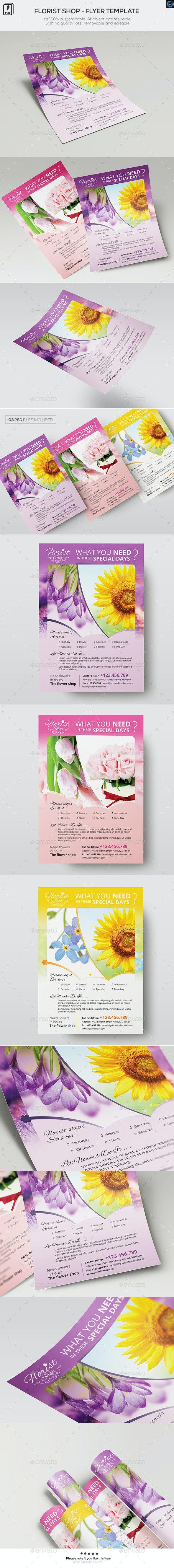 Florist Shop - Flyer Template - Commerce Flyers