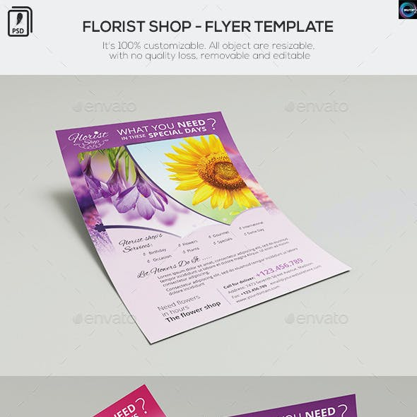 Florist Shop - Flyer Template