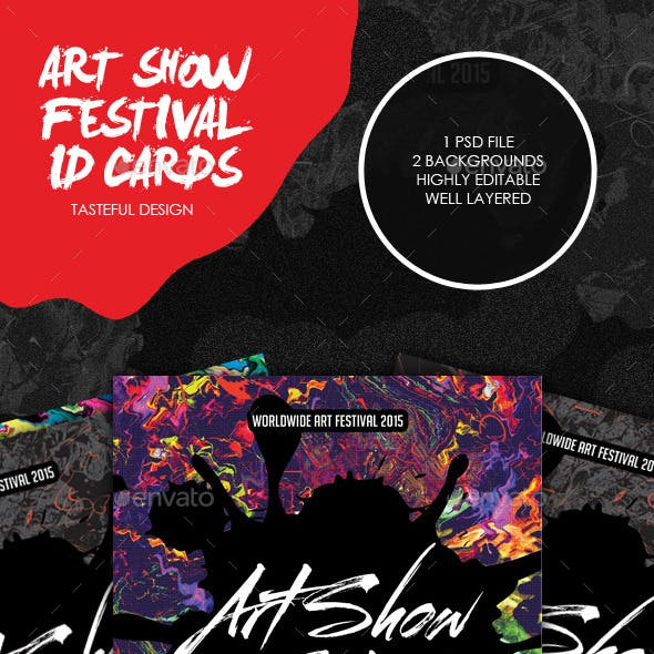 Art Show Festival ID Cards & Badge