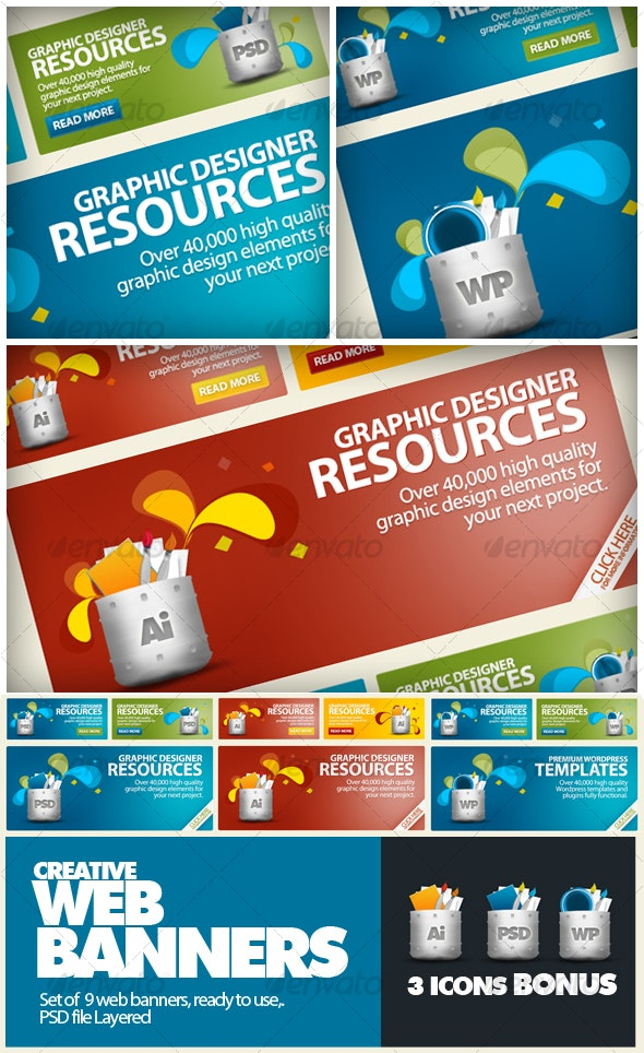 Creative Web Banners / Product Show - Web Elements