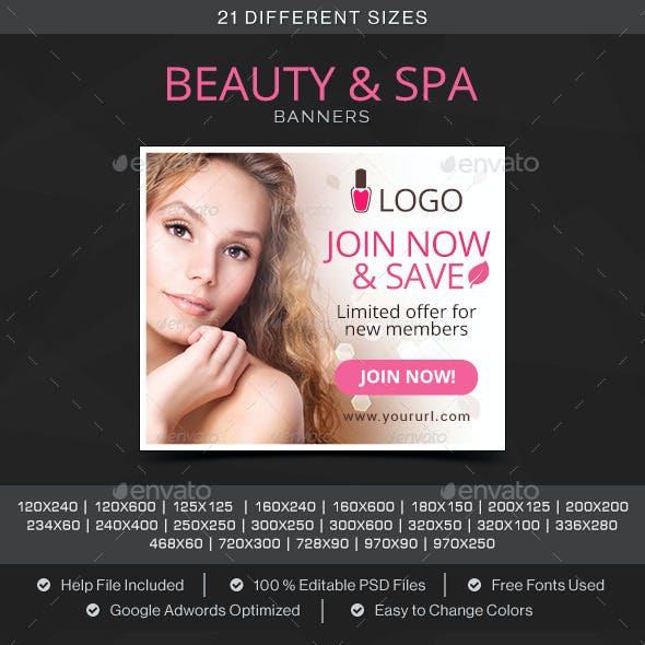 Beauty & Spa Banners