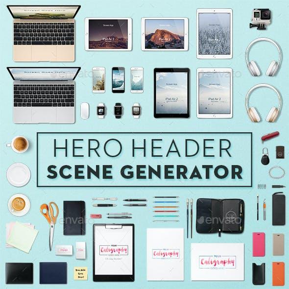 Hero Header Scene Generator