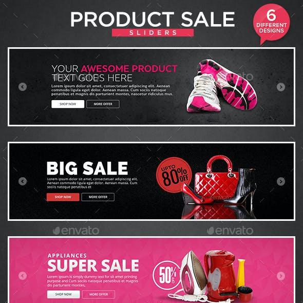 Product Sale Sliders - 6 Designs