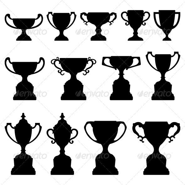 Trophy Cup Award Silhouette Black