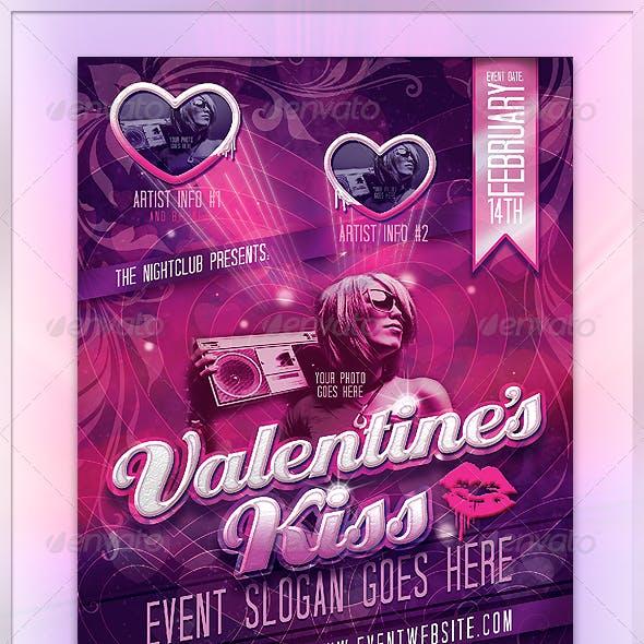 Valentine's Kiss Flyer