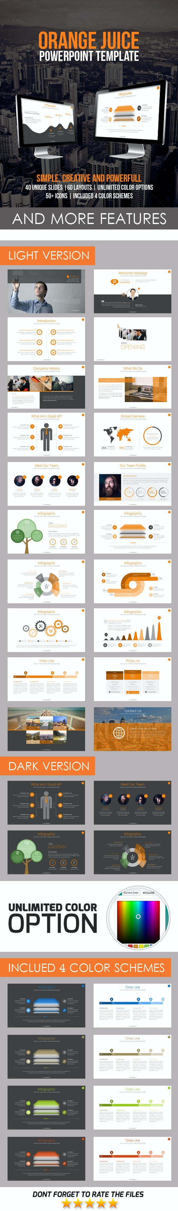 Orange Juice PowerPoint Template - Business PowerPoint Templates