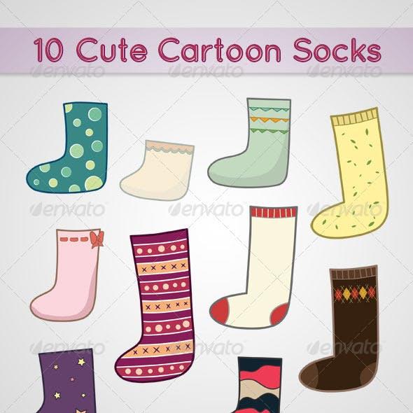 10 Cute Cartoon Socks