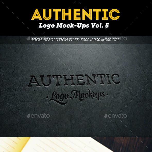 Authentic Logo Mockups Vol. 5