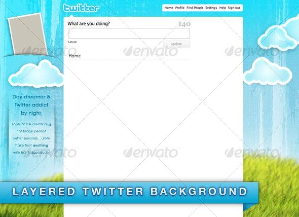 Daydreamer Twitter Background - Twitter Social Media