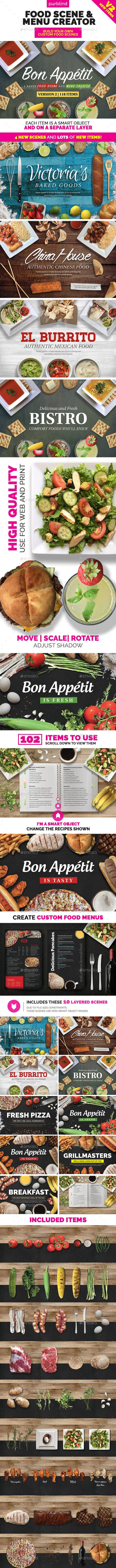 Food Scene / Menu Creator (Bon Appetit) - Hero Images Graphics