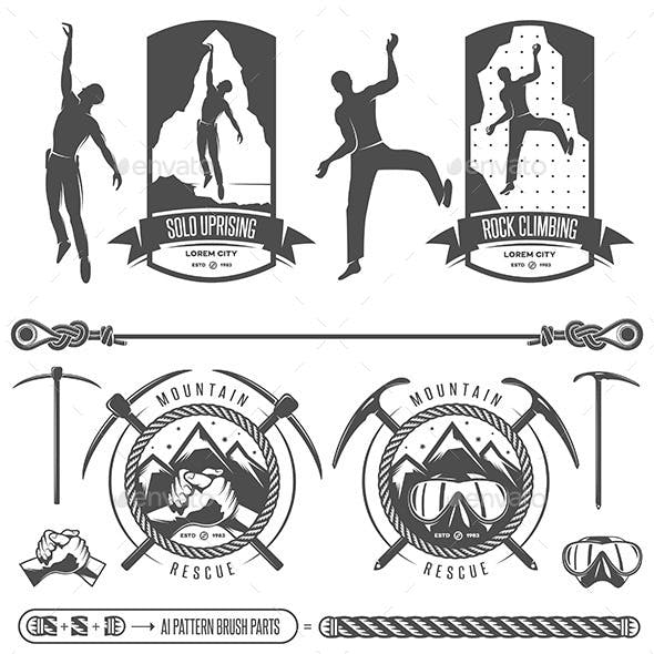 Rock Climbing and Mountain Rescue Labels